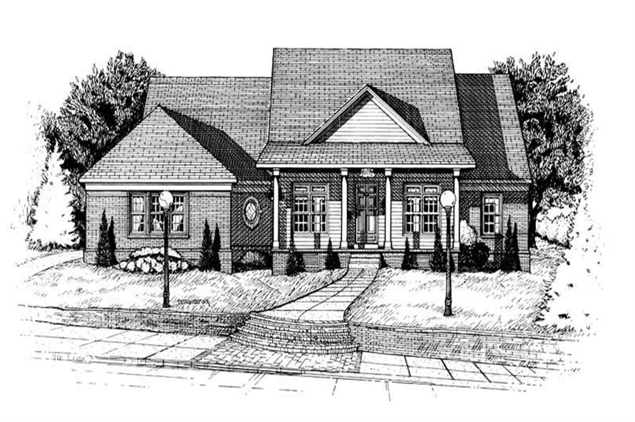 3-Bedroom, 2040 Sq Ft Country House Plan - 120-1649 - Front Exterior