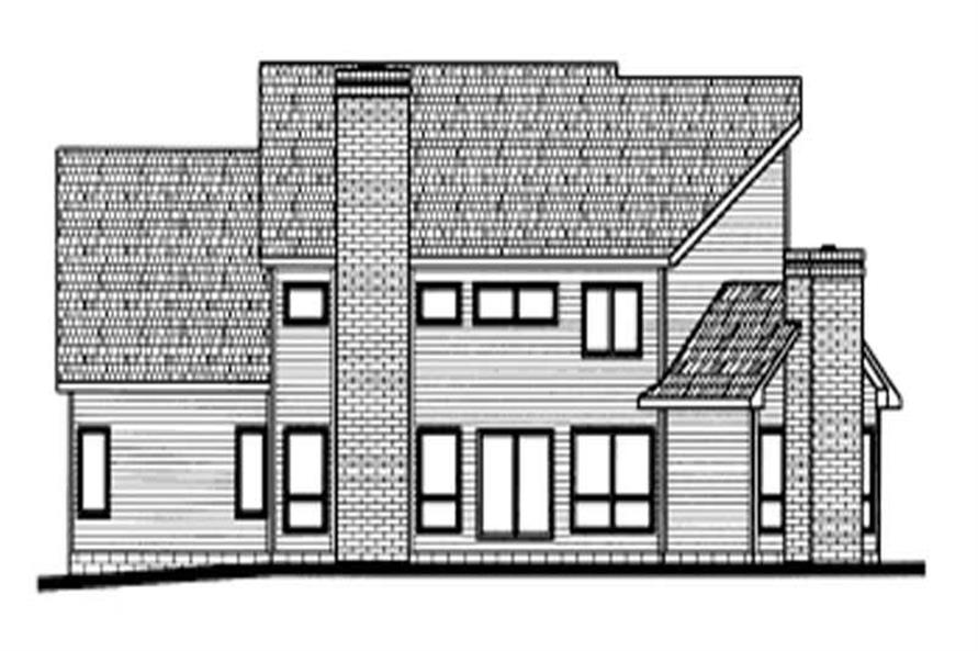 Home Plan Rear Elevation of this 4-Bedroom,2694 Sq Ft Plan -120-1650