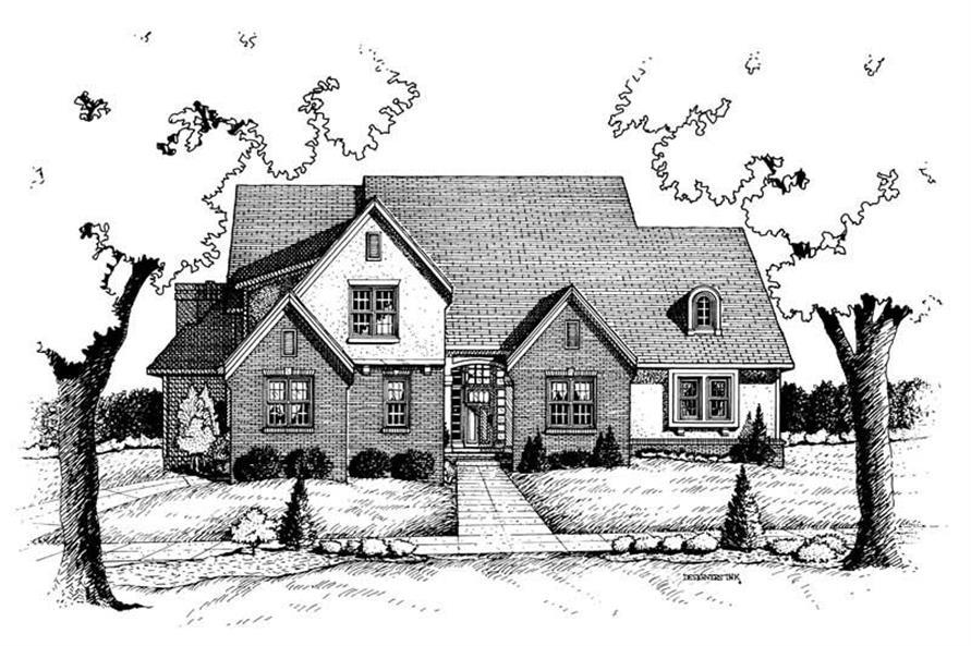 Home Plan Rendering of this 4-Bedroom,2694 Sq Ft Plan -120-1650