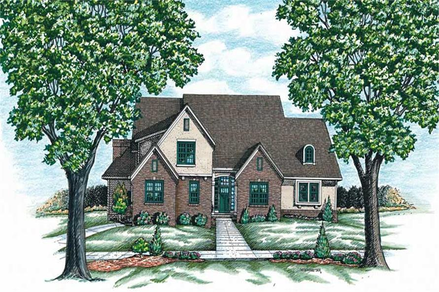 4-Bedroom, 2694 Sq Ft Traditional House Plan - 120-1650 - Front Exterior