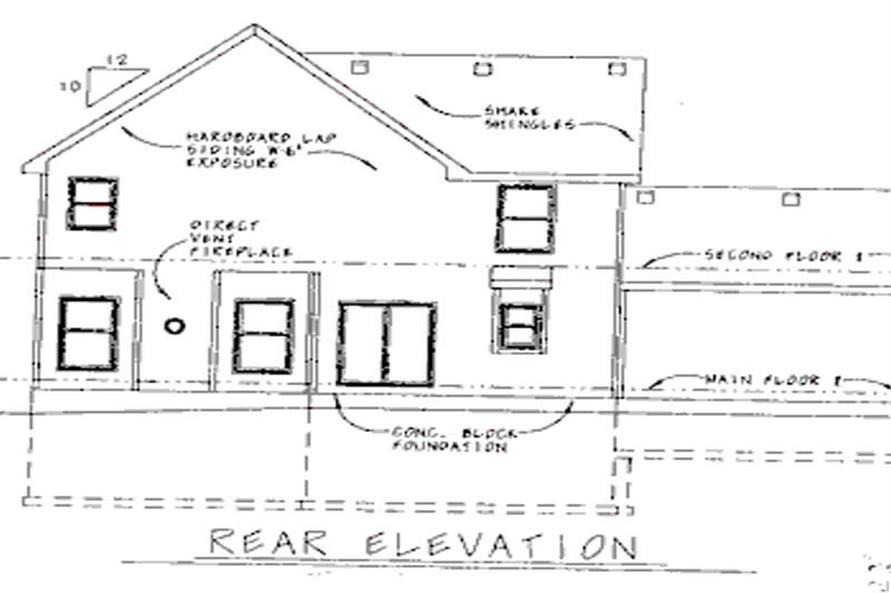 Home Plan Rear Elevation of this 3-Bedroom,2161 Sq Ft Plan -120-1651