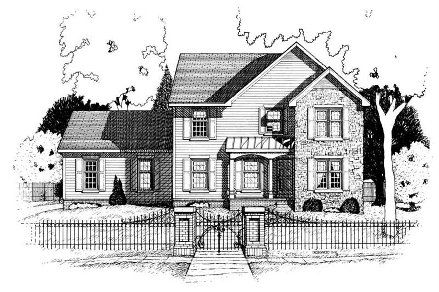 3-Bedroom, 2161 Sq Ft Country House Plan - 120-1651 - Front Exterior