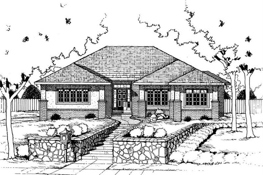 2-Bedroom, 1894 Sq Ft Ranch Home Plan - 120-1656 - Main Exterior