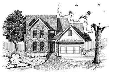 3-Bedroom, 1841 Sq Ft Traditional Home Plan - 120-1657 - Main Exterior