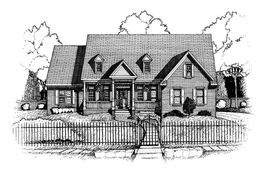 Home Plan Rendering of this 3-Bedroom,2586 Sq Ft Plan -120-1658