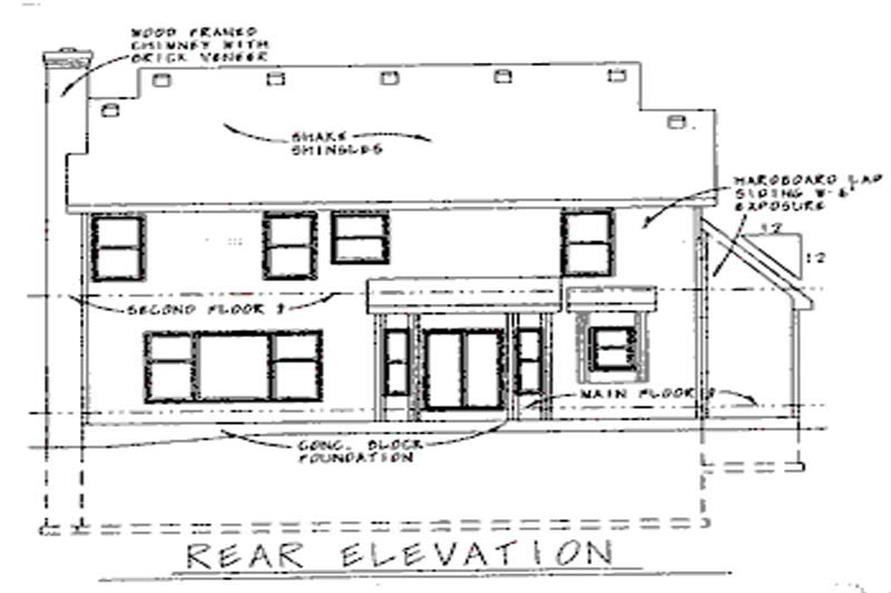 Home Plan Rear Elevation of this 4-Bedroom,2105 Sq Ft Plan -120-1659
