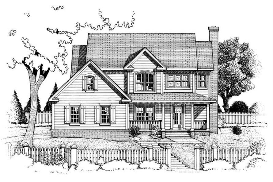 Home Plan Rendering of this 4-Bedroom,2105 Sq Ft Plan -120-1659