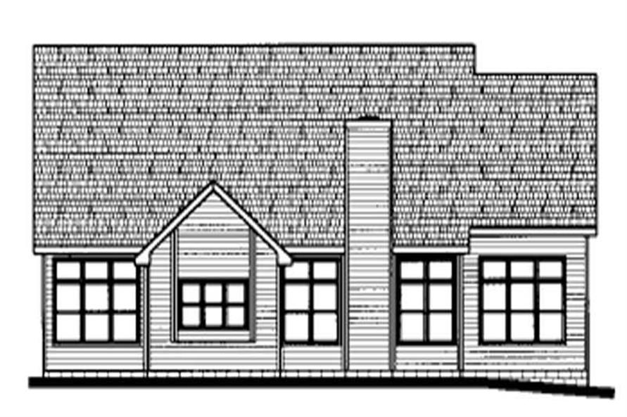 Home Plan Rear Elevation of this 4-Bedroom,2927 Sq Ft Plan -120-1660
