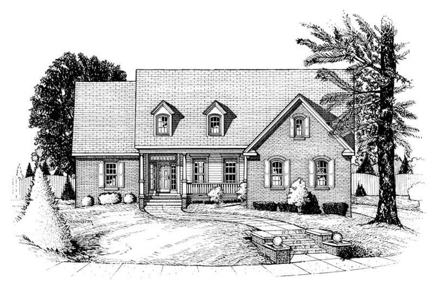 4-Bedroom, 2927 Sq Ft Ranch House Plan - 120-1660 - Front Exterior