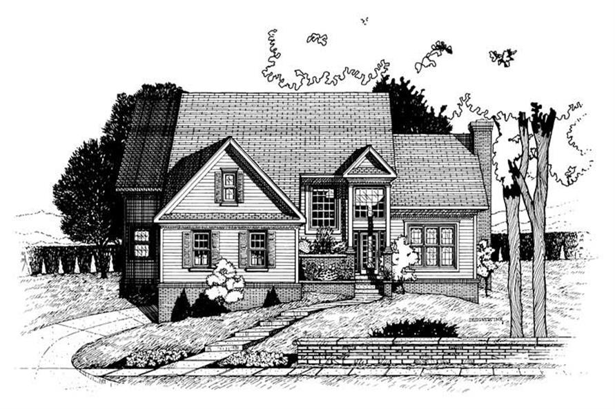4-Bedroom, 2670 Sq Ft Traditional House Plan - 120-1661 - Front Exterior