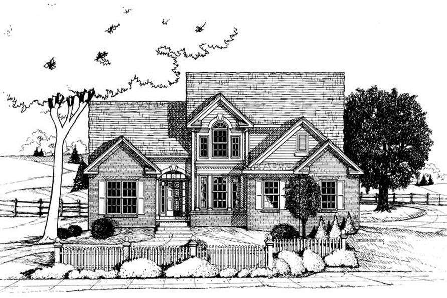 3-Bedroom, 1762 Sq Ft Small House Plans - 120-1665 - Main Exterior