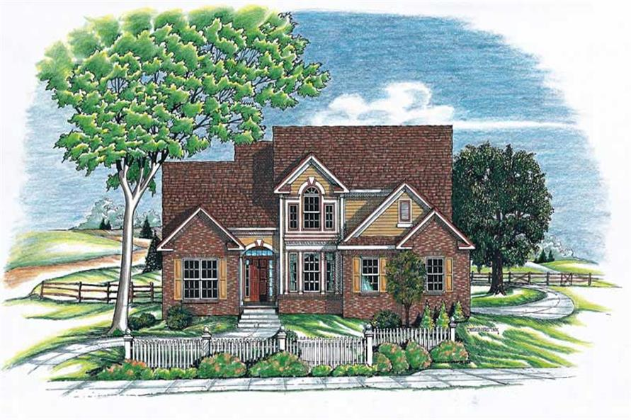 Front Elevation of this 3-Bedroom,1762 Sq Ft Plan -1762