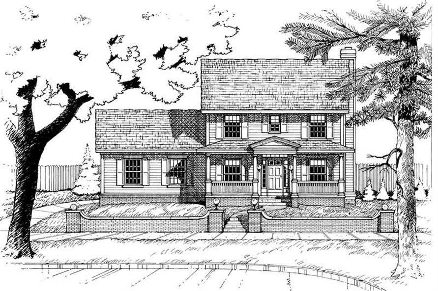 3-Bedroom, 1628 Sq Ft Country Home Plan - 120-1671 - Main Exterior