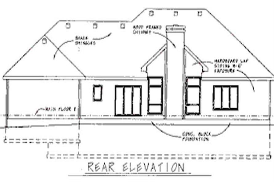Home Plan Rear Elevation of this 4-Bedroom,2227 Sq Ft Plan -120-1672