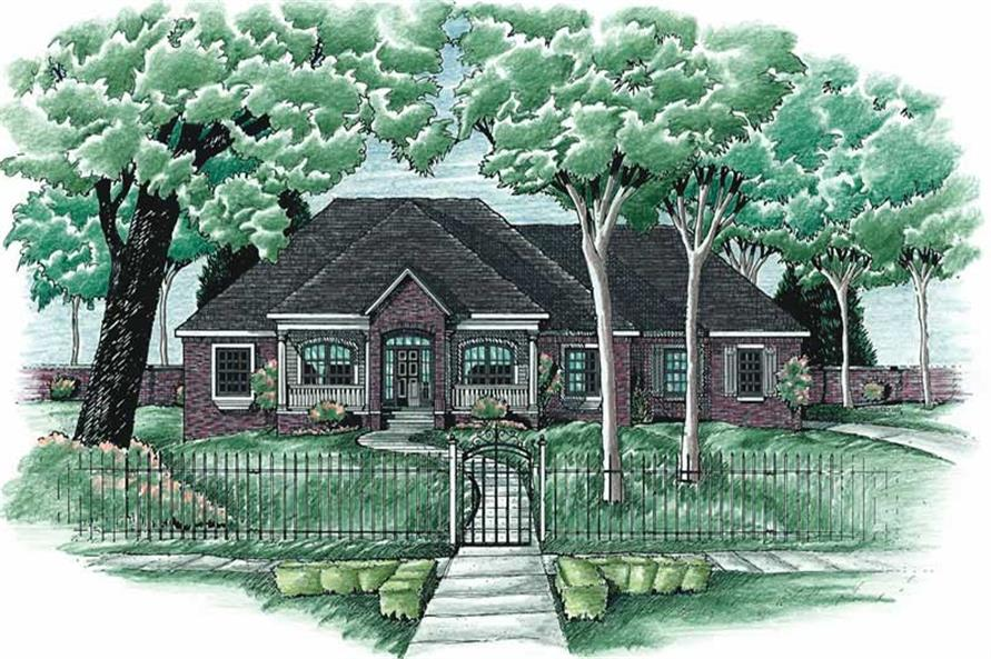 4-Bedroom, 2227 Sq Ft In-Law Suite Home Plan - 120-1672 - Main Exterior