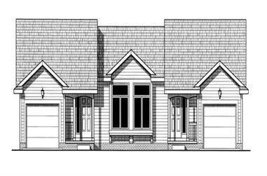 2-Bedroom, 1079 Sq Ft Multi-Unit Home Plan - 120-1675 - Main Exterior