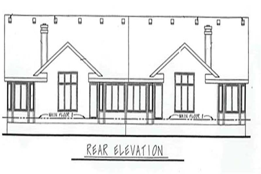 Home Plan Rear Elevation of this 2-Bedroom,1658 Sq Ft Plan -120-1676