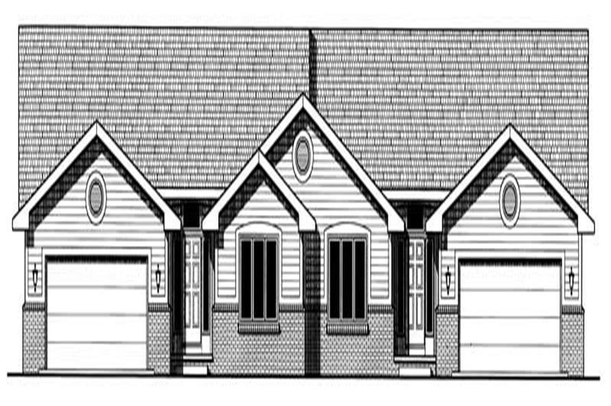2-Bedroom, 1658 Sq Ft Multi-Unit Home Plan - 120-1676 - Main Exterior