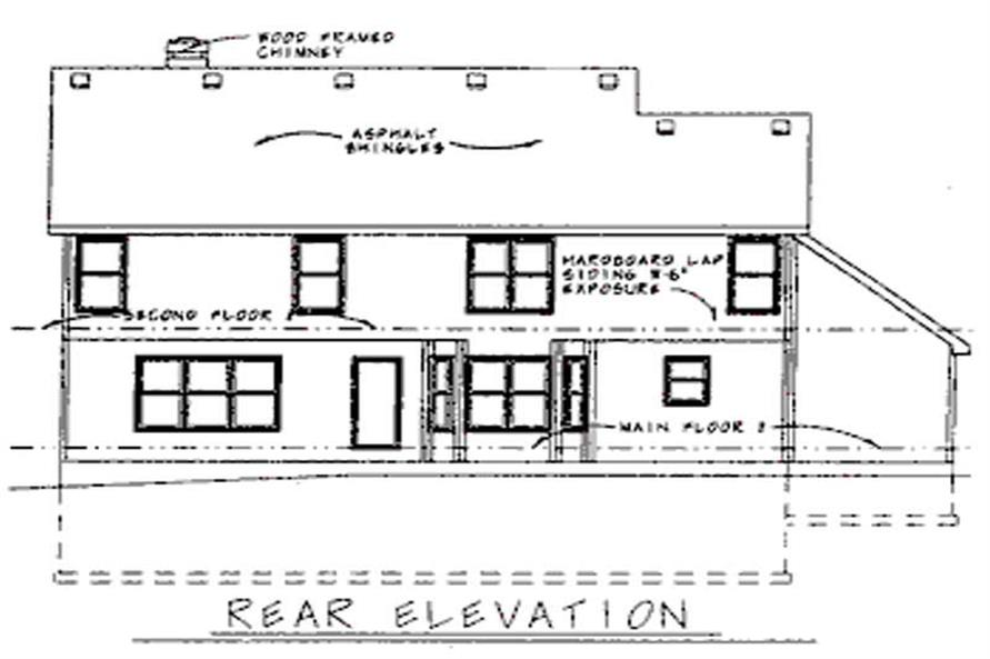 Home Plan Rear Elevation of this 4-Bedroom,2558 Sq Ft Plan -120-1679