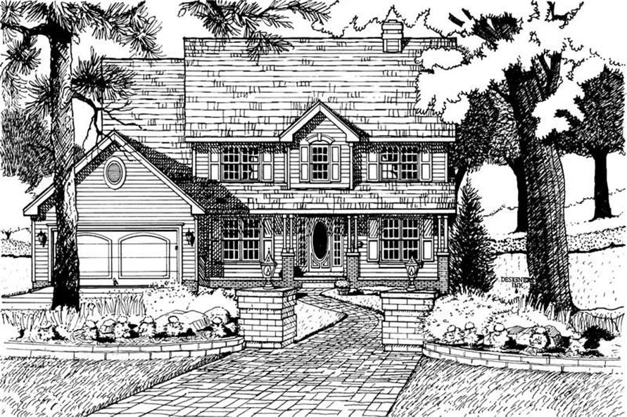 4-Bedroom, 2558 Sq Ft Country Home Plan - 120-1679 - Main Exterior