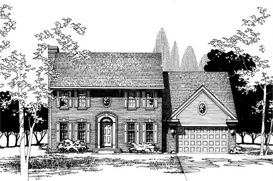 Home Plan Rendering of this 4-Bedroom,2345 Sq Ft Plan -120-1683