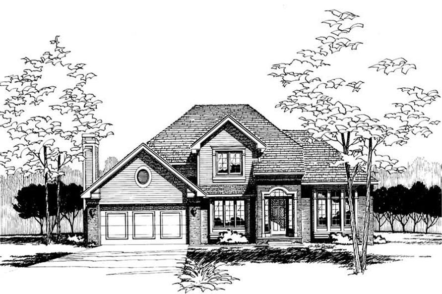 Front Elevation of this 4-Bedroom,2113 Sq Ft Plan -2113