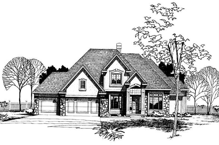 Home Plan Rendering of this 4-Bedroom,2579 Sq Ft Plan -120-1685