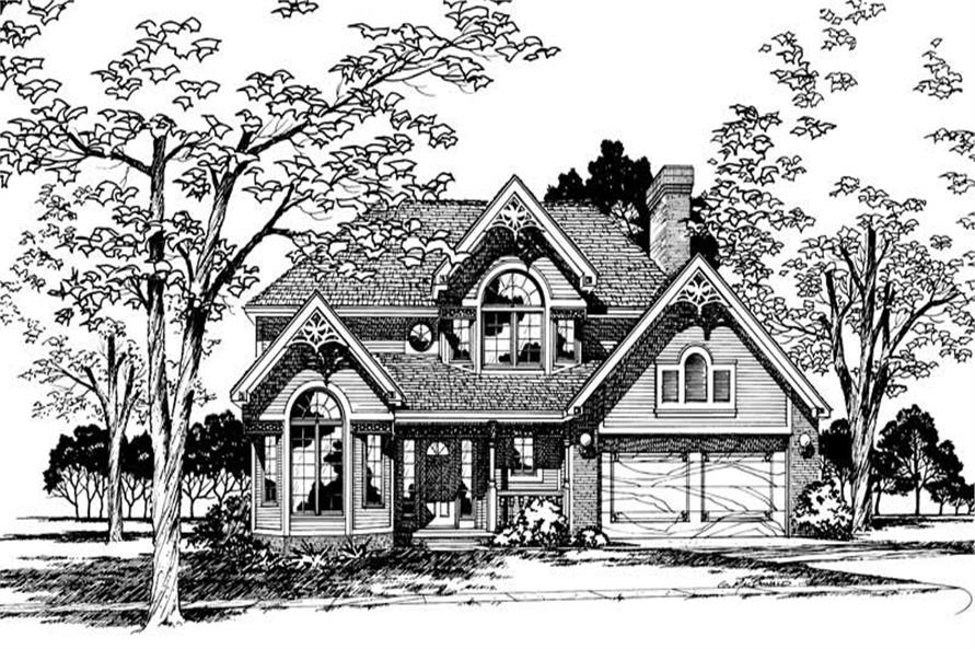 Front Elevation of this 4-Bedroom,2078 Sq Ft Plan -2078