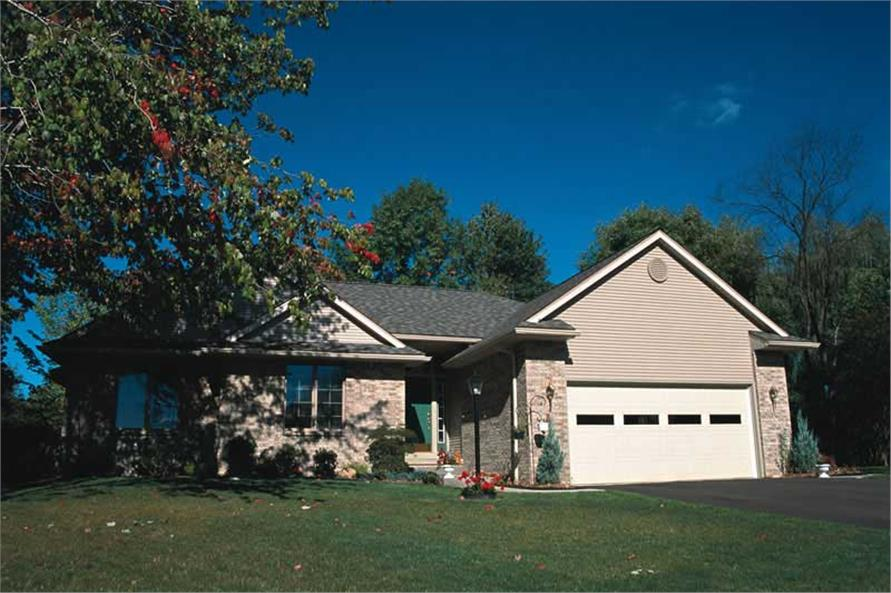 3-Bedroom, 1604 Sq Ft Small House Plans - 120-1692 - Front Exterior