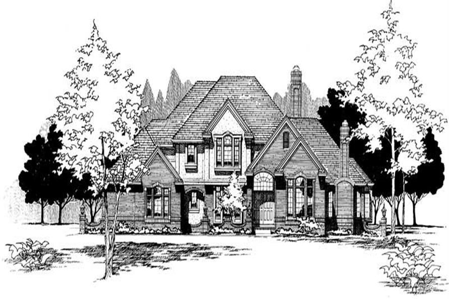 Home Plan Rendering of this 4-Bedroom,3623 Sq Ft Plan -120-1693
