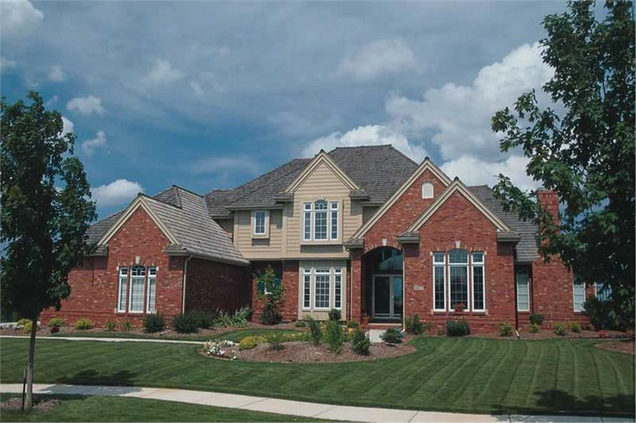 4-Bedroom, 3623 Sq Ft Luxury House Plan - 120-1693 - Front Exterior