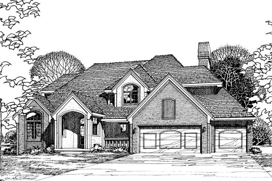 Main image for house plan # 5195