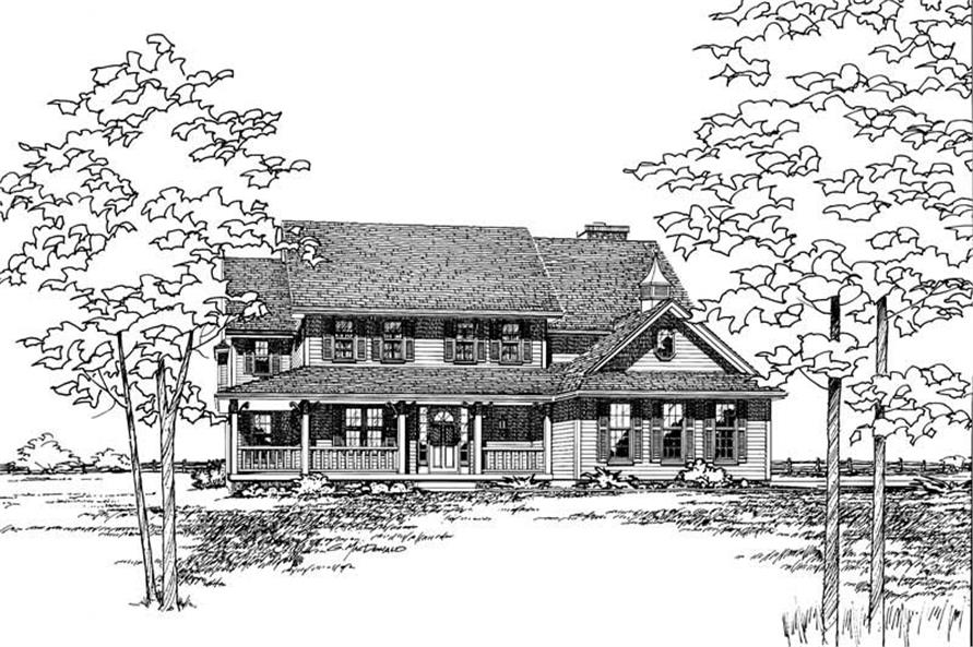 Front Elevation of this 4-Bedroom,2594 Sq Ft Plan -2594