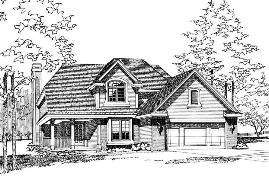 4-Bedroom, 1776 Sq Ft Small House Plans - 120-1702 - Front Exterior