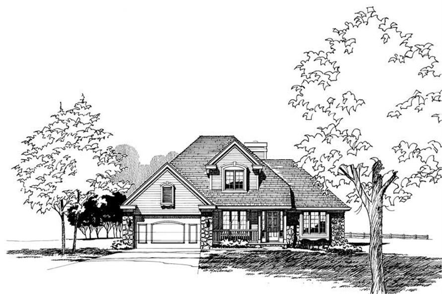Home Plan Rendering of this 3-Bedroom,1685 Sq Ft Plan -120-1703
