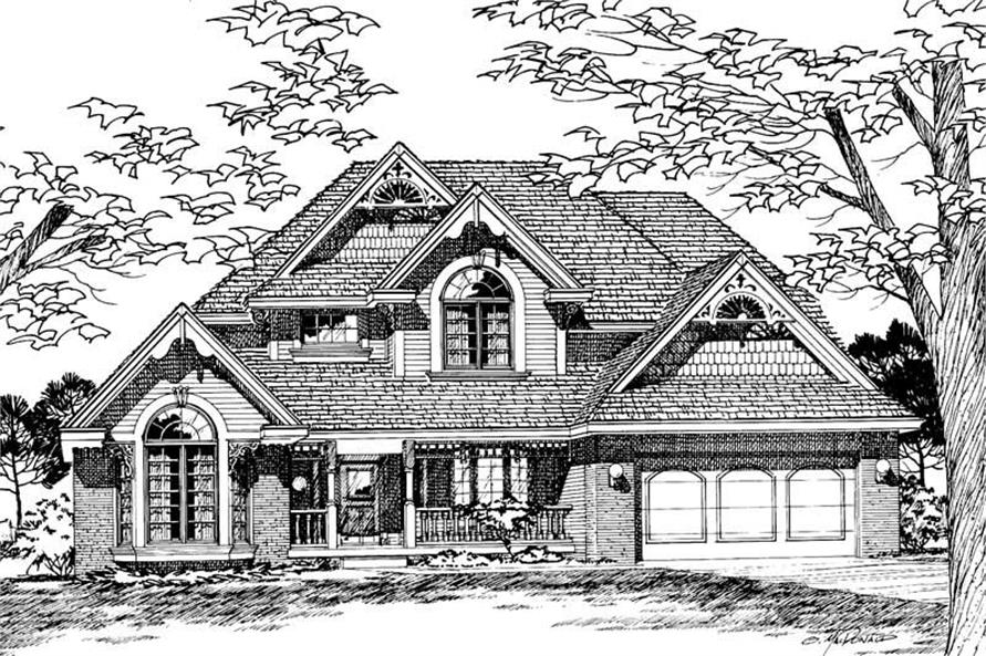 Front Elevation of this 4-Bedroom,2353 Sq Ft Plan -2353
