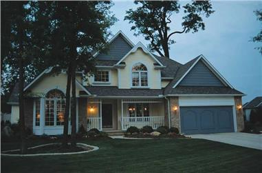 4-Bedroom, 2353 Sq Ft Victorian House Plan - 120-1704 - Front Exterior