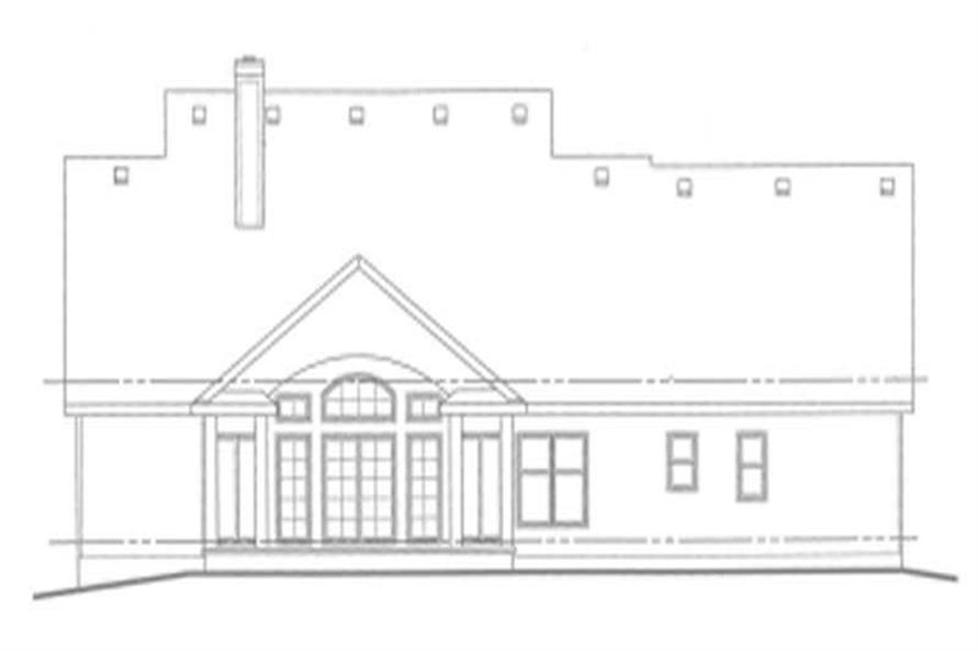 Home Plan Rear Elevation of this 3-Bedroom,2820 Sq Ft Plan -120-1705