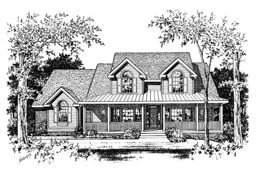 Home Plan Rendering of this 3-Bedroom,2820 Sq Ft Plan -120-1705