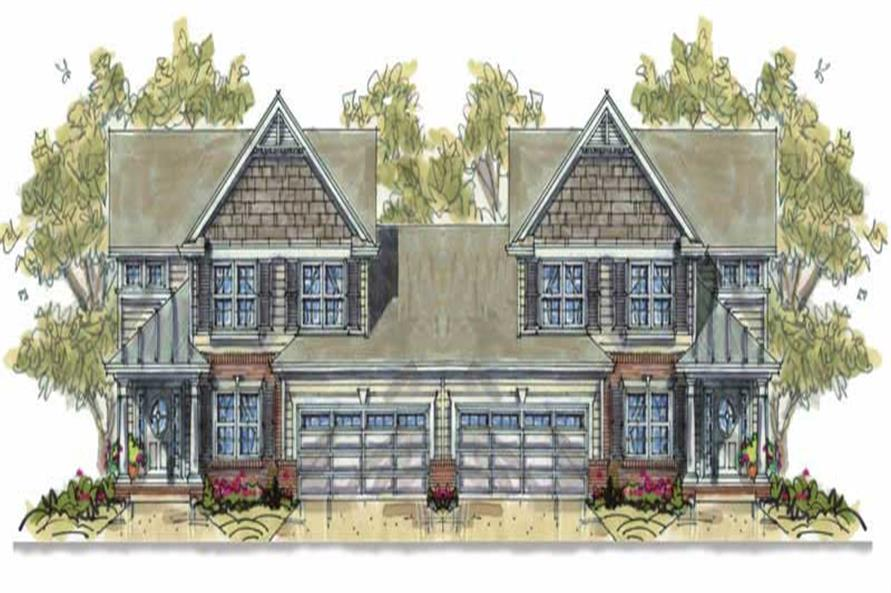 3-Bedroom, 2024 Sq Ft Country House Plan - 120-1706 - Front Exterior