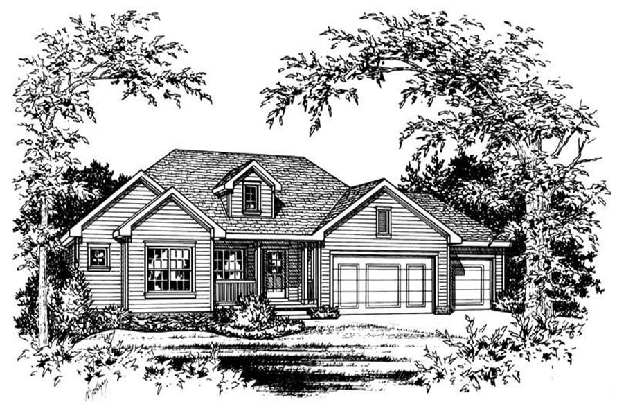 Main image for house plan # 5486