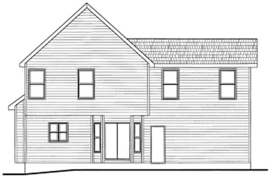 Home Plan Rear Elevation of this 2-Bedroom,1463 Sq Ft Plan -120-1712