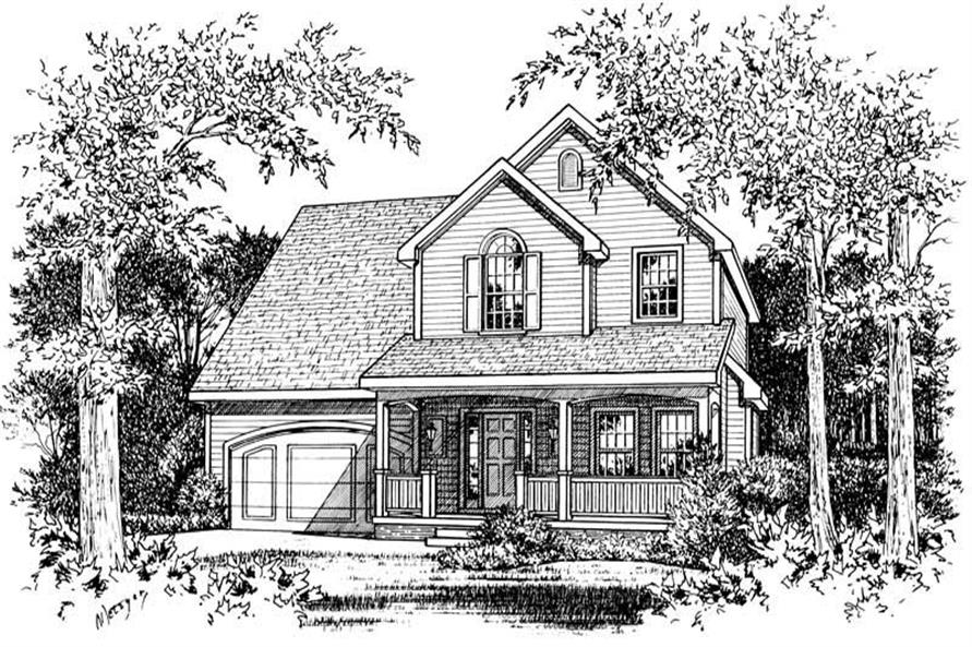 Front Elevation of this 2-Bedroom,1463 Sq Ft Plan -1463