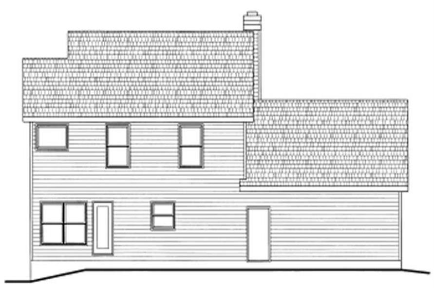 Home Plan Rear Elevation of this 3-Bedroom,1650 Sq Ft Plan -120-1713