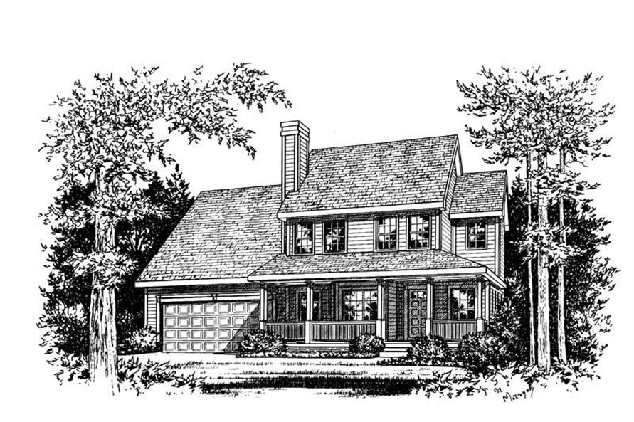 Home Plan Rendering of this 3-Bedroom,1650 Sq Ft Plan -120-1713