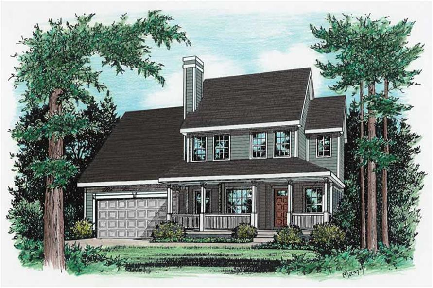 3-Bedroom, 1650 Sq Ft Country Home Plan - 120-1713 - Main Exterior