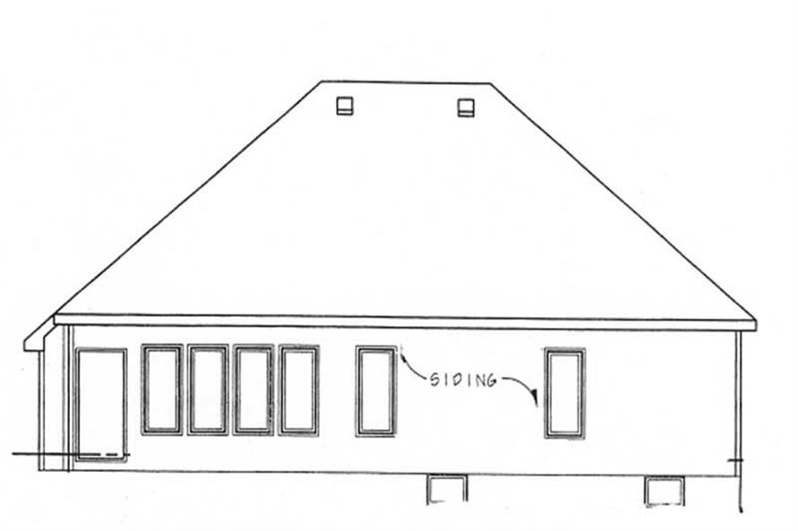 Home Plan Rear Elevation of this 2-Bedroom,1498 Sq Ft Plan -120-1714