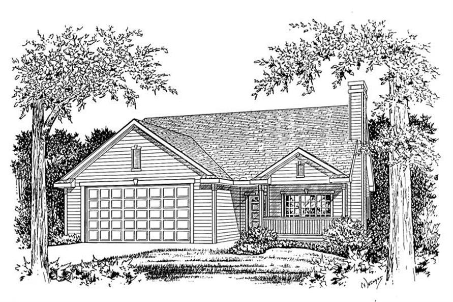 Home Plan Rendering of this 2-Bedroom,1498 Sq Ft Plan -120-1714