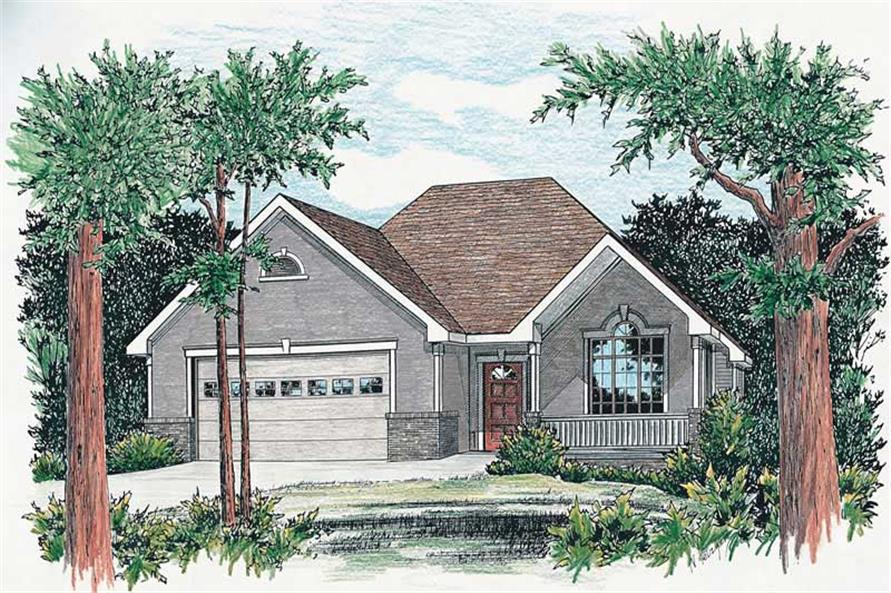 2-Bedroom, 1498 Sq Ft Bungalow Home Plan - 120-1714 - Main Exterior