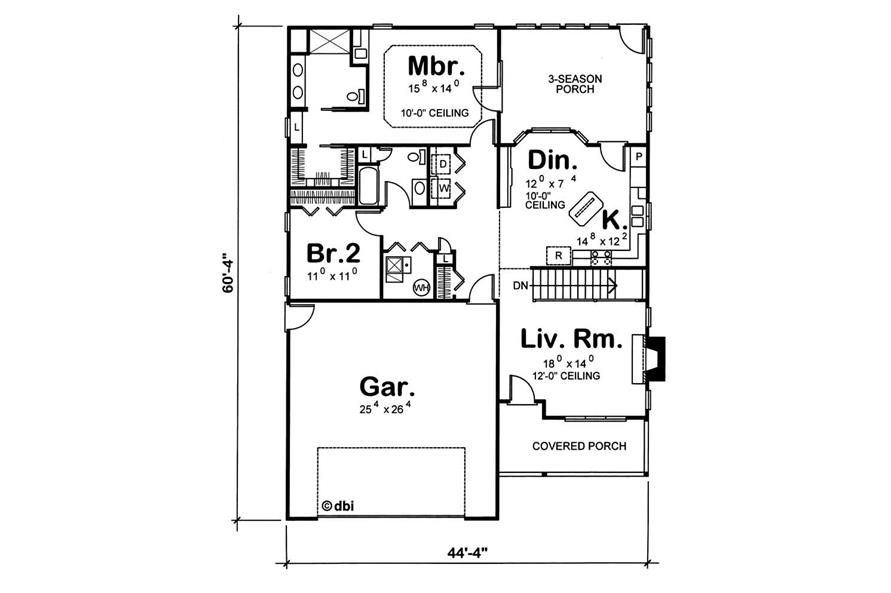 Home Plan Other Image of this 2-Bedroom,1498 Sq Ft Plan -120-1714